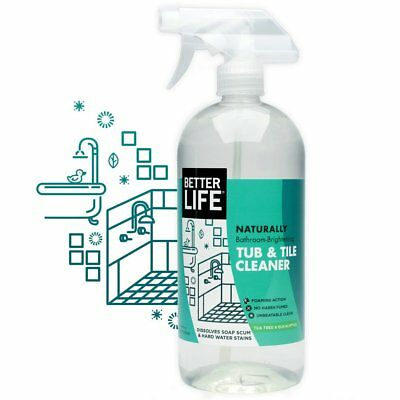 Better Life Tub & Tile Cleaner, Tea Tree & Eucalyptus Scent, 32 oz,