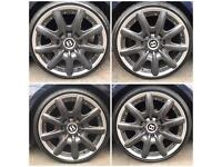 """4 x Bentley Mulliner Alloys 19"""" with stretched tyres AUDI VW fitment"""