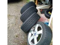"""17""""alloys with tires"""