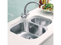 Franke 1.5 Undermount Kitchen Sink. Stainless Steel. Can be fitted into Granite Marble Worktop