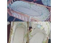 Unisex crib/cot & moses basket