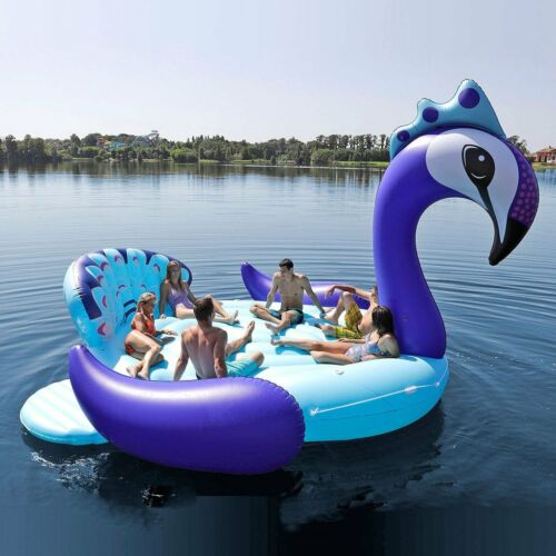 NEW MEGA HUGE GIANT INFLATABLE PEACOCK PARTY FLOATING ISLAND LAKE RIVER RAFT