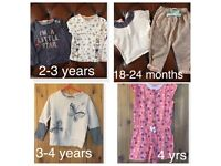 Girls and baby clothes bundle 1-4 years designer next dkny river island mamas and papas ect