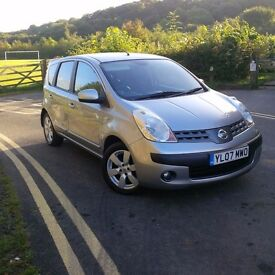 2007 nissan note SVE silver