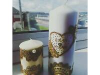 Customized Mehndi Candles