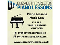 Summer Piano Lessons at REDUCED rates during July & August | Over 25 years teaching experience