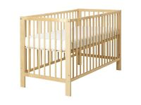 Stuuning - IKEA GULLIVER COT BED - In perfect NEW condition - just £27.50 - REAL WOOD - IKEA COT