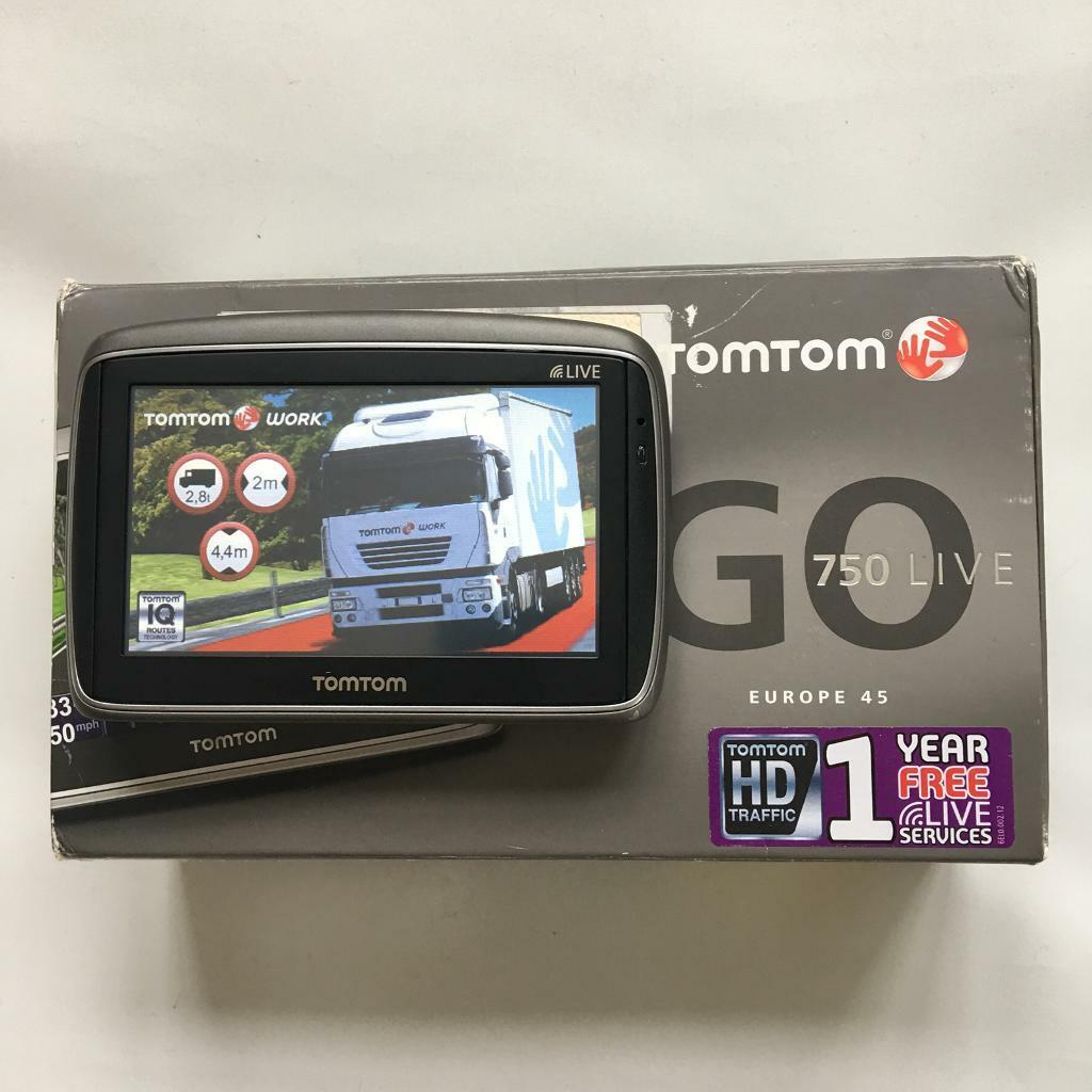 Tom Tom Go 750 Truck, Brand New V 1010 Europe Truck Map, Boxed Like New,  July 2018 !!! | in Mountsorrel, Leicestershire | Gumtree