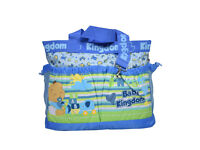 Baby Kingdom Diaper Bag/Mother Bag - Blue /Large and Spacious