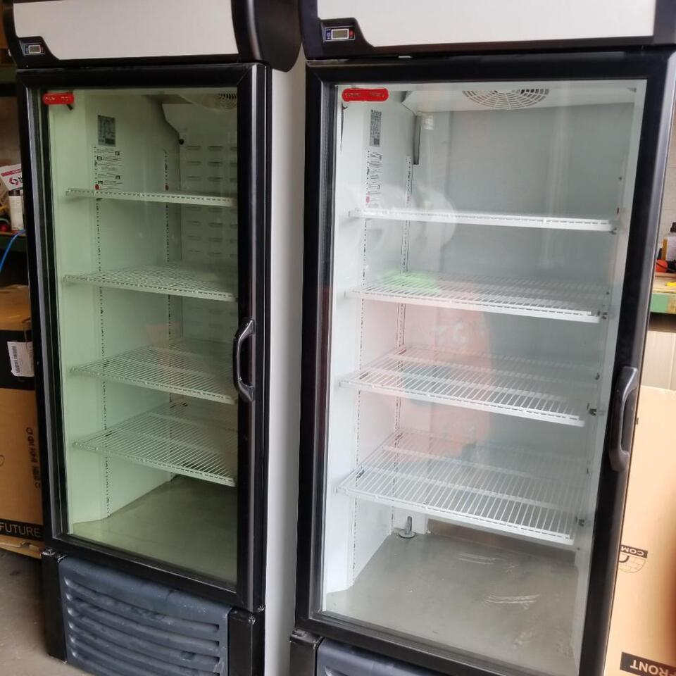 Used Commercial Glass Door Cooler And Freezer For Sale Business