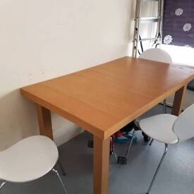 Oak dining table quick sale