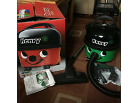 Henry Hoover Eco HVR200, with original box, fittings and bags.