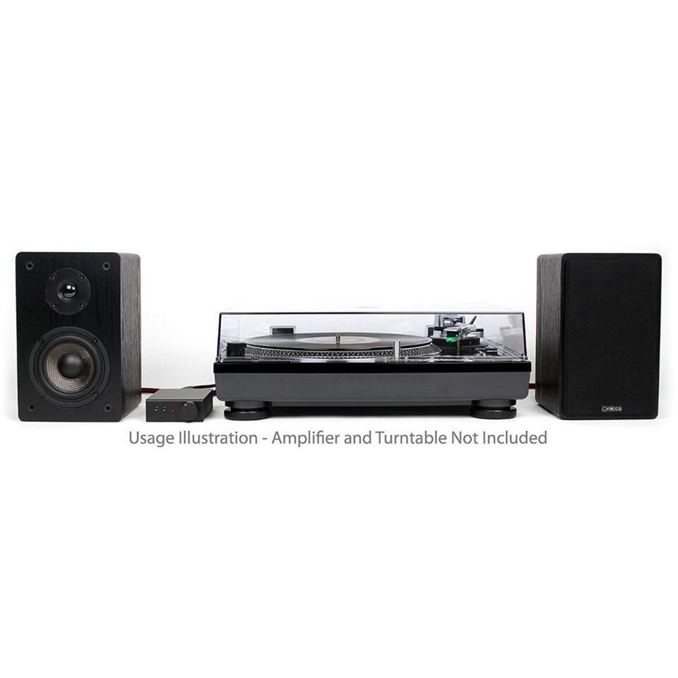 New Micca MB42 Bookshelf Speakers With 4 Inch Carbon Fiber Woofer