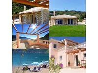LATE AVAILABILITY AT TWO BEAUTIFUL BEACHSIDE VILLAS IN AGIOS GEORGIOS, CORFU, GREECE.