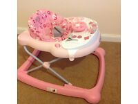 Pink baby walker, good condition