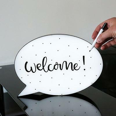 e White Board Home Welcome Party Message Bridal Baby Shower (Welcome-party Dekorationen)