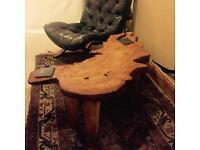 Genuine Swedish black leather vintage armchair