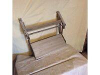 Folding step for caravan or camper