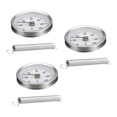 3PCS Rohrfeder Clip on Thermometer Economy Typ 63mm 0 120 ℃ für 20 50mm Clip-on-thermometer