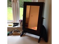Black jewellery storage mirror