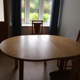 Elm dining table with 4chairs