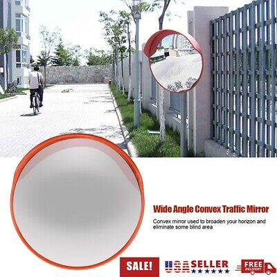 Traffic Convex Mirror Wide Angle Safety Mirror Driveway Outdoor Security 24 Usa