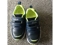 Clarks kids trainers size 8h