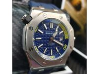 Blue Divers Audemars Piguet with Blue Strap Comes AP Boxed With Paoerwork