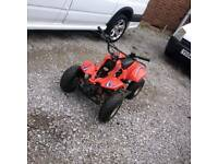 Kids quad 90cc rev and go runs and rides great speed restrictable