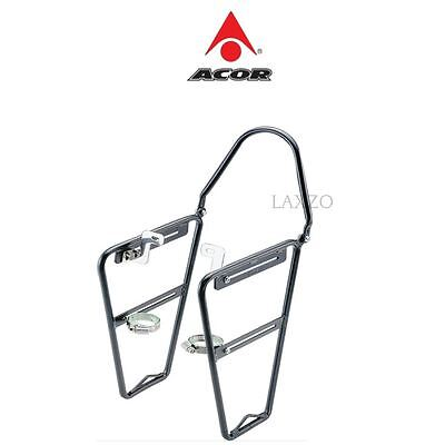 Acor Low Rider Front Carrier Pannier Rack Black Alloy Bike For Rigid Forks