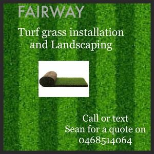 FAIRWAY Turf grass installation and Landscaping. Bundoora Banyule Area Preview