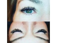 Mink lashes £35 Russian volume lashes £55