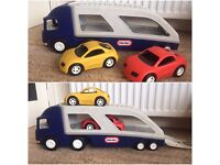 Little Tikes Transporter Truck Lorry With 2 Cars
