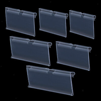 Pack Of 147 Transparent Plastic Merchandise Shelf Price Tag Label Holder For