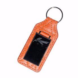 Kahn Orange Enamel Key Ring