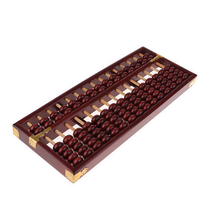 Antique Chinese Bead Arithmetic Abacus Classic Calculate Kits Collection Red