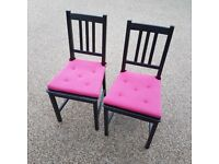 House Clearance - pair of kitchen chairs with cushions