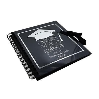Personalized Photo Albums (Personalised Black Graduation Photo Album, Scrapbook or Guest Book BLSCR-)