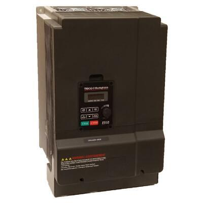 15 Hp 3 Phase 230 Volts Teco Nema 1ip20 Variable Frequency Drive E510-215-h3-u
