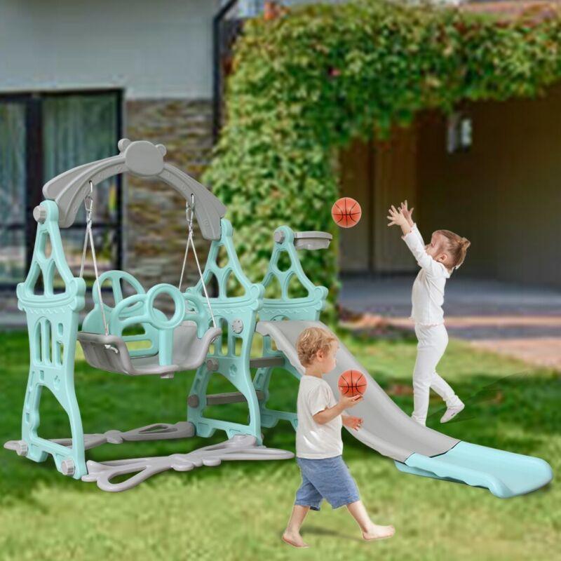 Indoor Outdoor Toddler Kid Slide Swing Combination Climbing