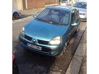 Renault Clio 1.2 16v very good condition for sale or trade to moped