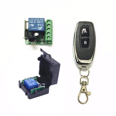 DC 12V 1CH Relay Receiver Module RF Transmitter 433Mhz Wireless Remote Control S