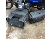 LEATHER MOTORCYCLE SUITCASE STYLE PANNIERS