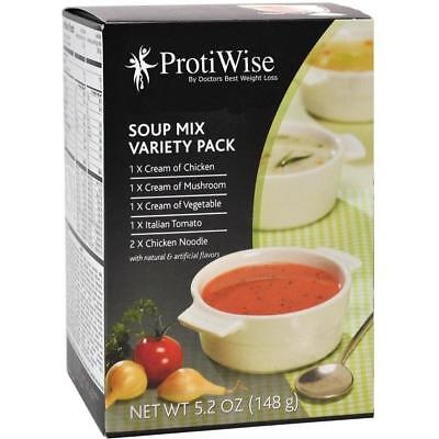 PROTIWISE | Soup Mix Variety Pack | High Protein, 7/Box
