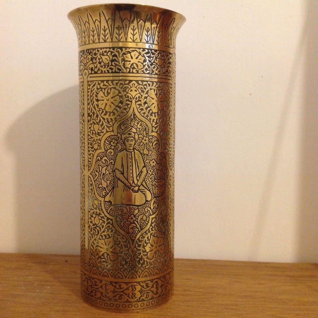 Antique Kinco Brass Vase
