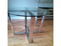 RV Astley Glass Top Dining Table