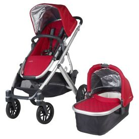 UPPAbaby VISTA Pushchair and Carrycot, Denny Red