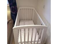 Anna dropside cot with mattress