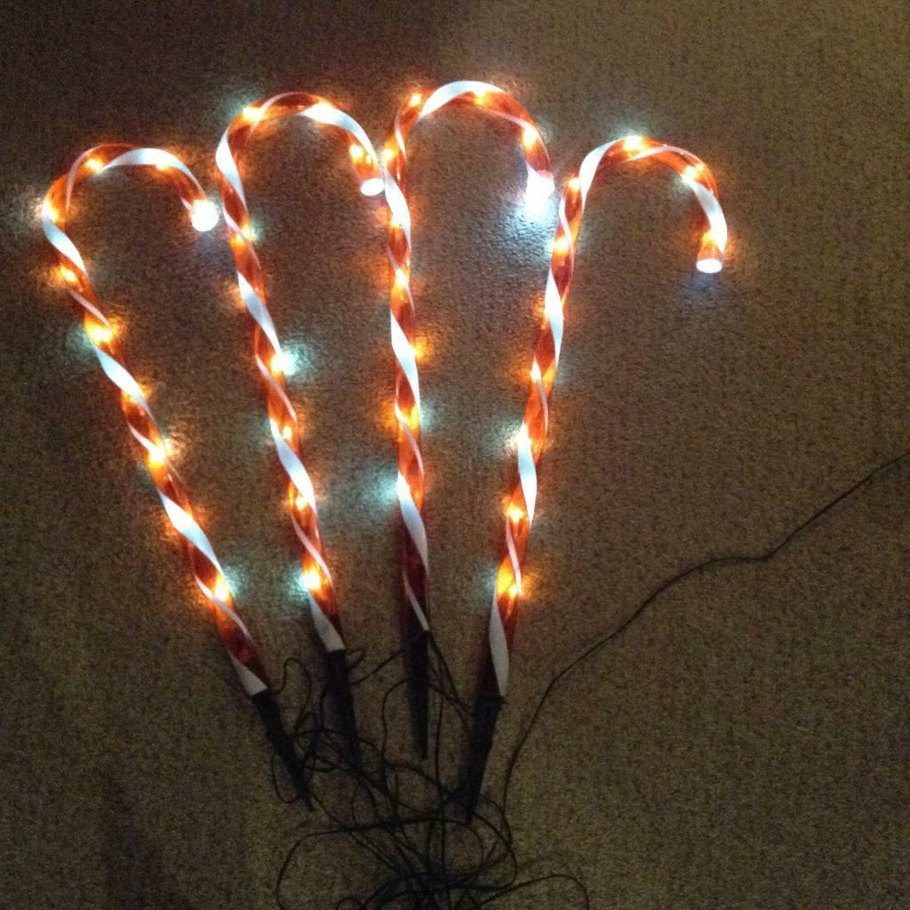 Candy Canes Outdoor Christmas Lights In Waterlooville Hampshire