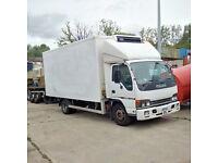 ISUZU NQR 70 5.2 Carrier Xarios 500 7.5 Ton fridge freezer box lorry.